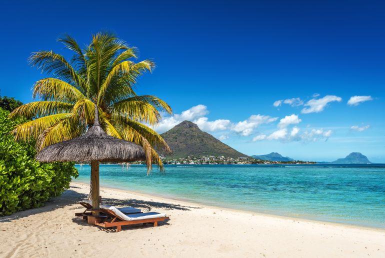 Strand Flic en Flac auf Mauritius