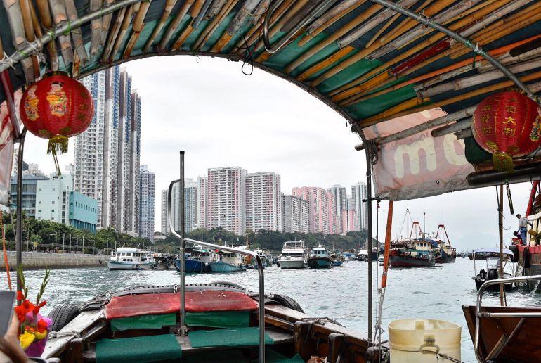 Bootsfahrt in Hongkong