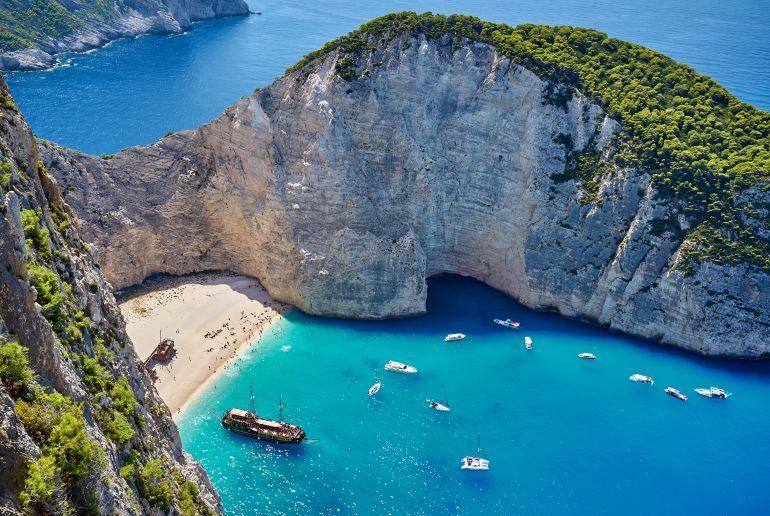 Stran und Meer in Griechenland