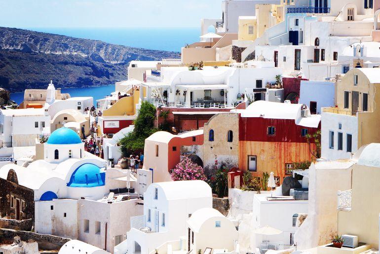 Weiße Häuser in Griechenland