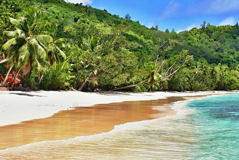 Strand Grand Anse auf den Seychellen