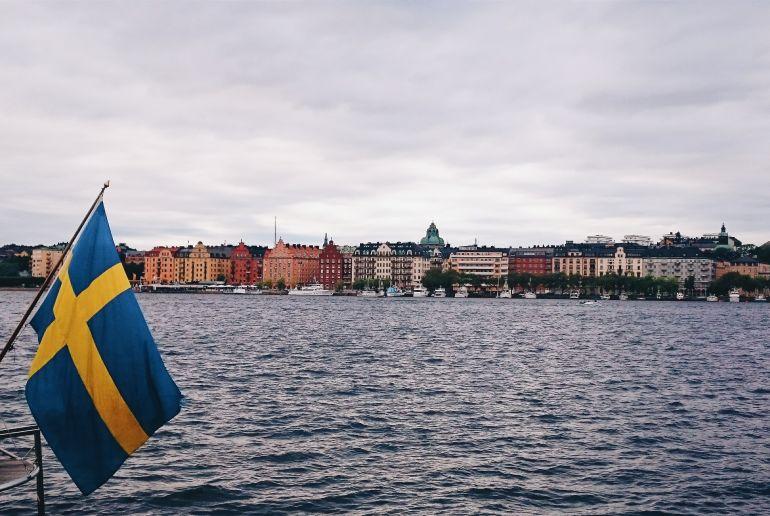 Schwedischefahne auf Boot