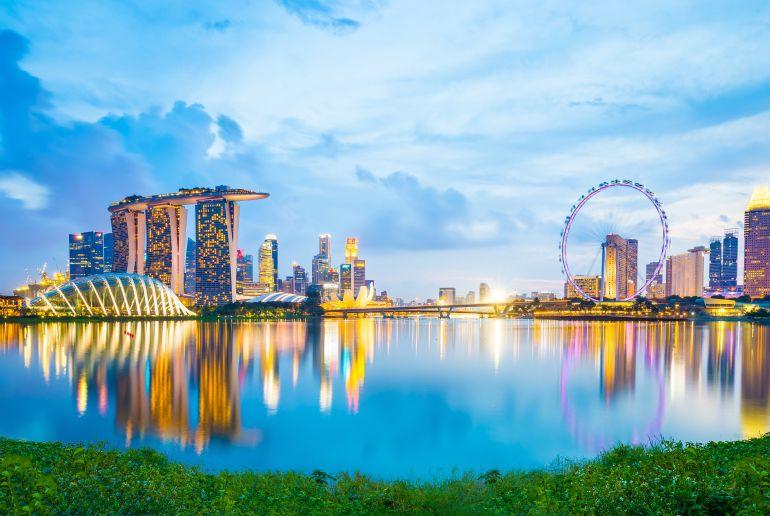 Singapur am Abend