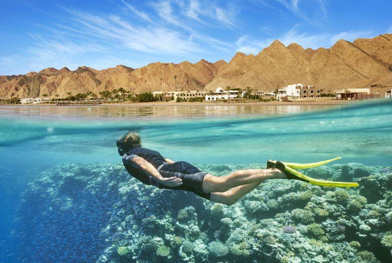 Taucher in Ägypten
