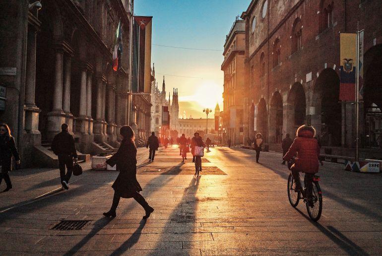 Fahrrad fahren in Mailand
