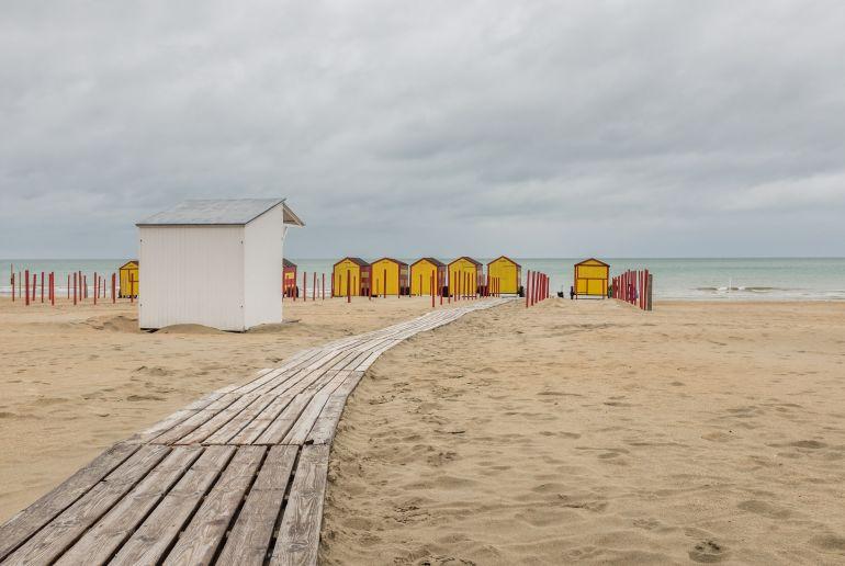 De Panne Strand Beligen mit Strandhäusern