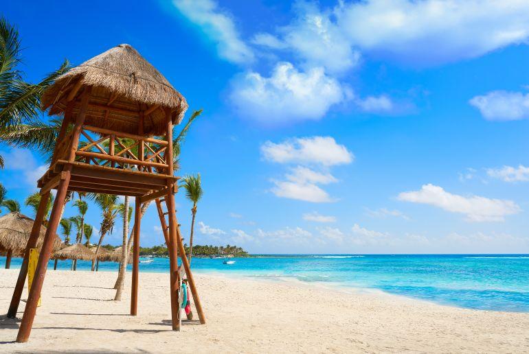 Strand Playa de Akumal in Mexiko