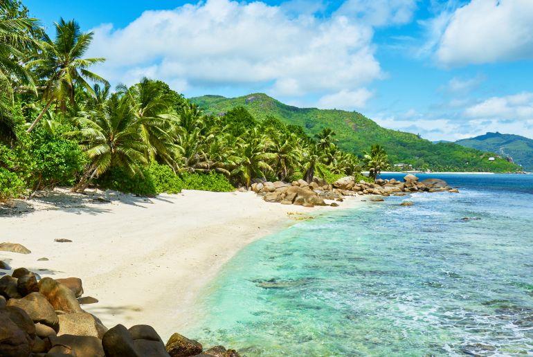 Strand Anse Marie Louise auf den Seychellen
