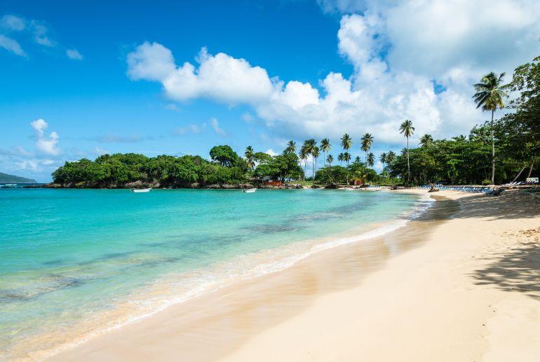 Strand Playa Rincon in der Dominikanischen Republik