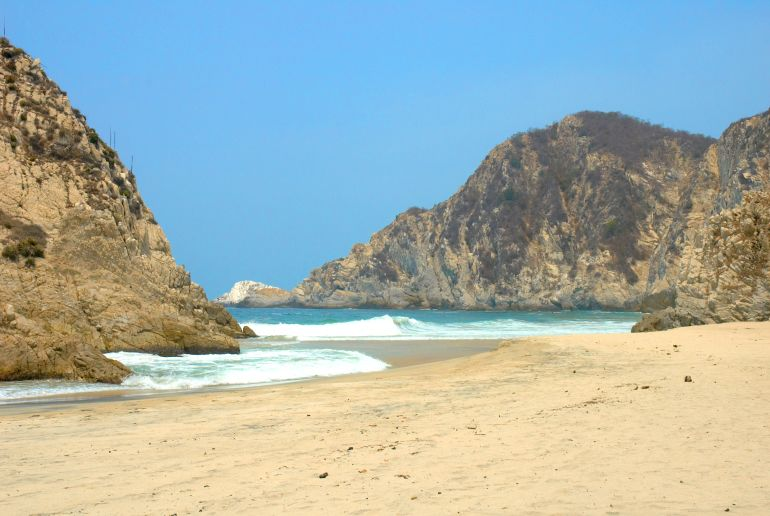 Strand Playa Maruata in Mexico