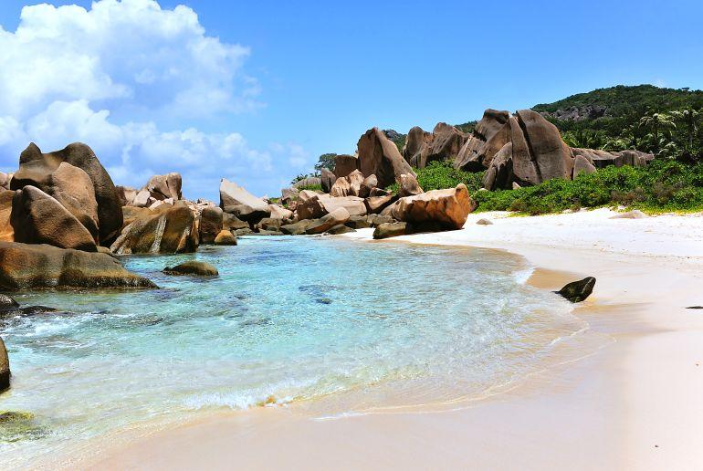 Strand Anse Marron auf den Seychellen