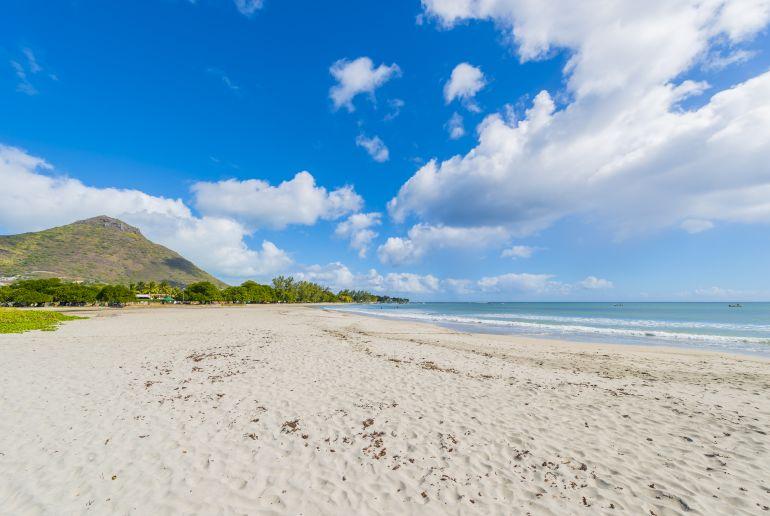 Tamarin Strand auf Mauritius