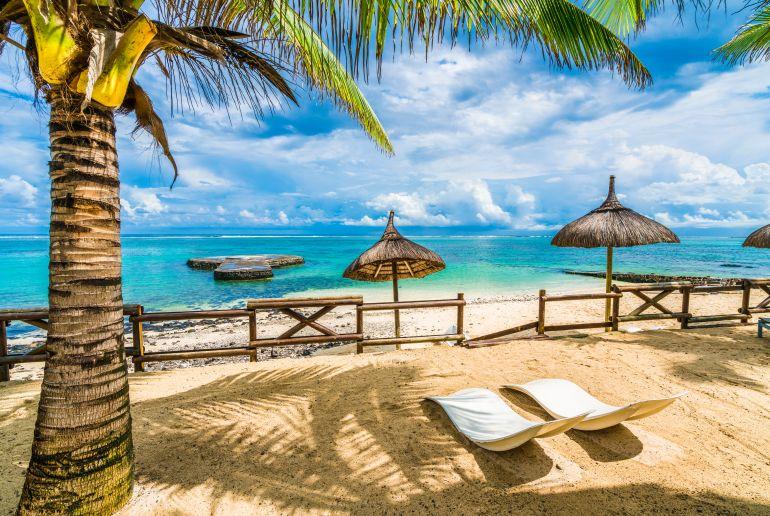 Blue Bay Strand auf Mauritius