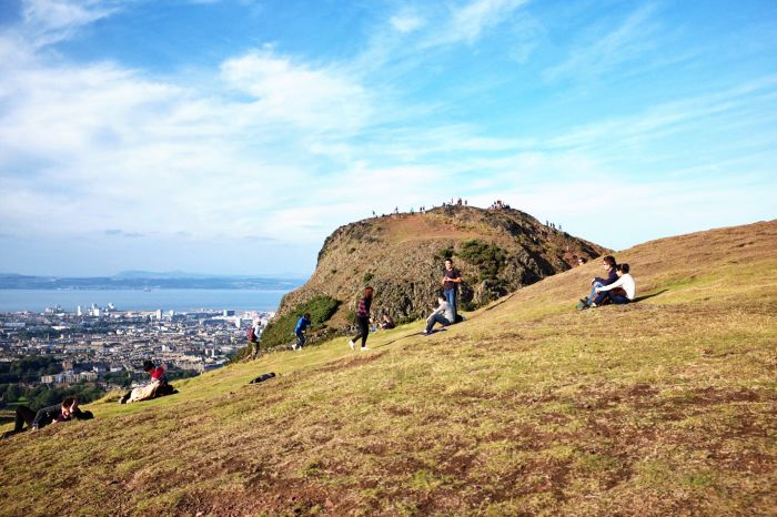 Edinburgh, Scotland. Leave the city crowds behind and head up the mountains