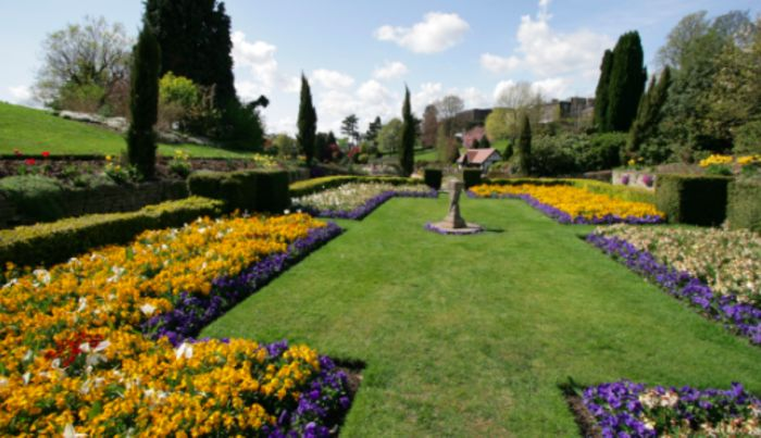Royal Tunbridge Wells, England. Discover nature in the gardens of Tunbridge Wells during sunset