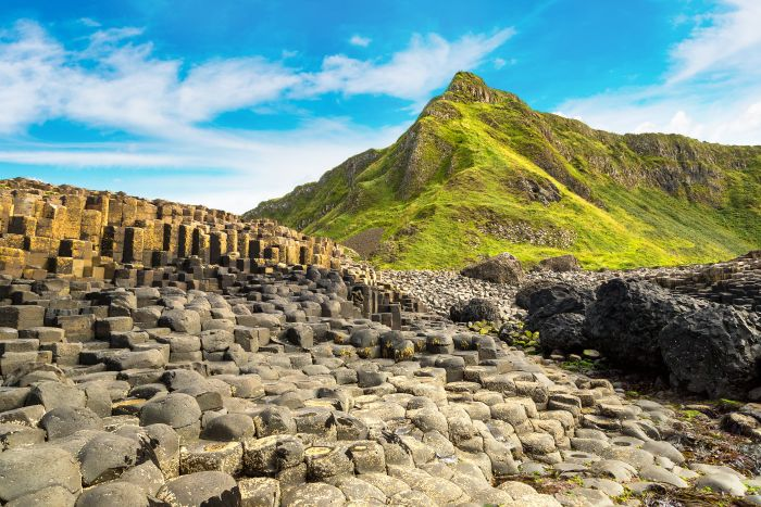 Belfast, Northern Ireland. Walk along the basalt columns with a day trip to Giant's Causeway