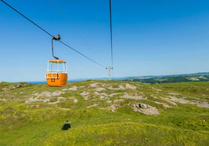 Llandudno, Wales. Take a cable car ride to the Great Orme for spectacular views