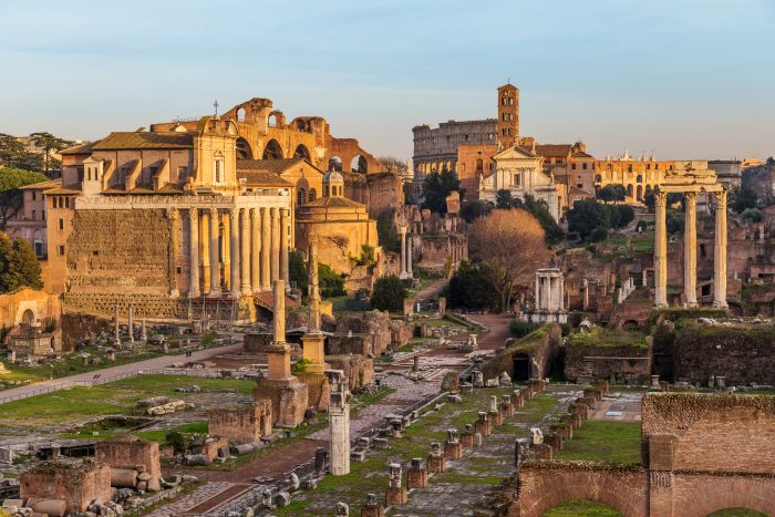 Rome, Italy. Soak up the atmosphere and views of the city while sharing champagne