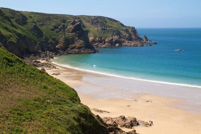 Jersey, Channel Islands. Sun, sand, fresh air and the sound of the sea – forget about everyday life