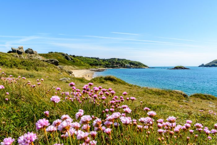 Herm, Channel Islands. Soak in the sunshine at White Shell beach