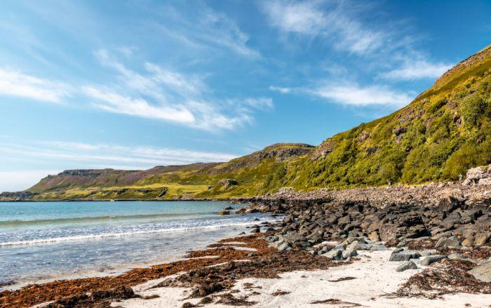 Isle Of Mull, Scotland. Spot sea otters and eagles while strolling along the coastline