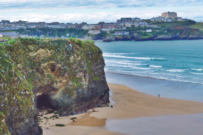 Newquay, England. Explore the walking trails and make your way to Fistral Beach by dusk