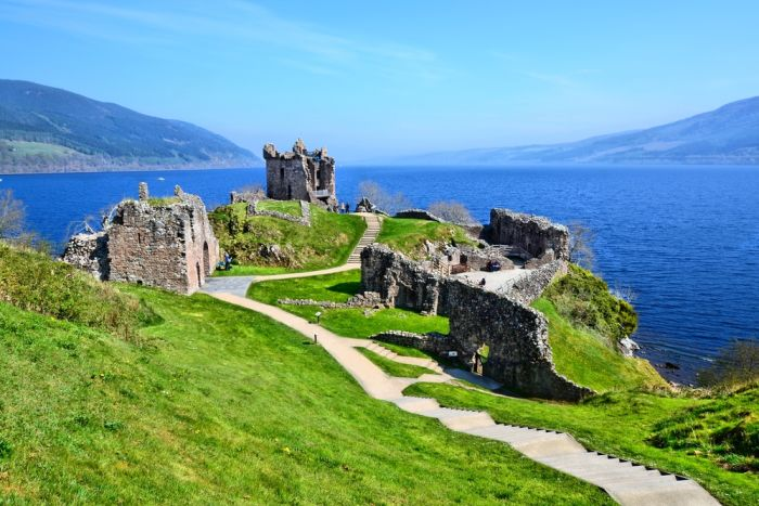Inverness, Scotland. Relax with a walk up to Urquhart Castle on the banks of Loch Ness