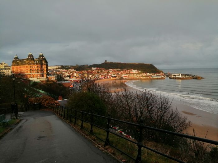 Scarborough, England. Sea air, sunsets and someone special - the perfect combination