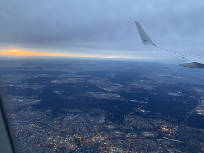 Krakow, Poland. Wear masks, enjoy good service and the views from the plane