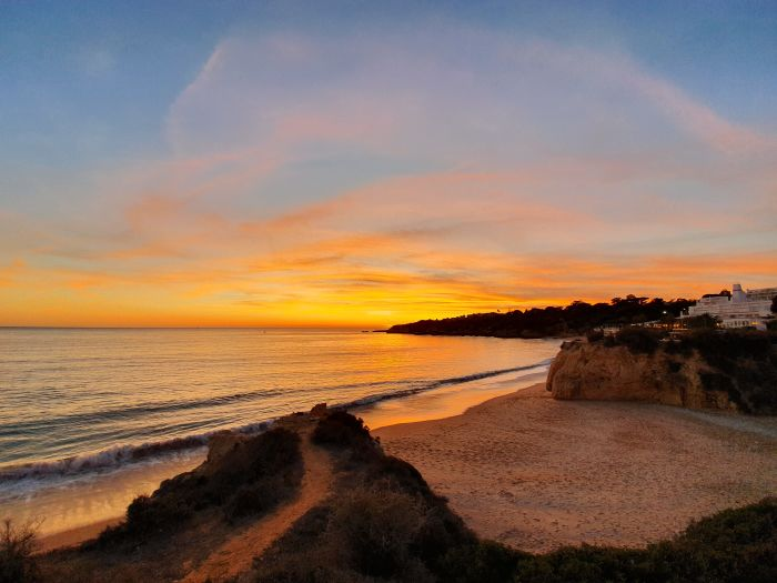 Faro, Portugal. Enjoy sunset views as you fly, the airports have taken extra measures
