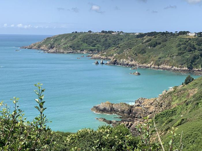 Guernsey, Channel Islands. Swim in the clear blue sea surrounded by beautiful scenery