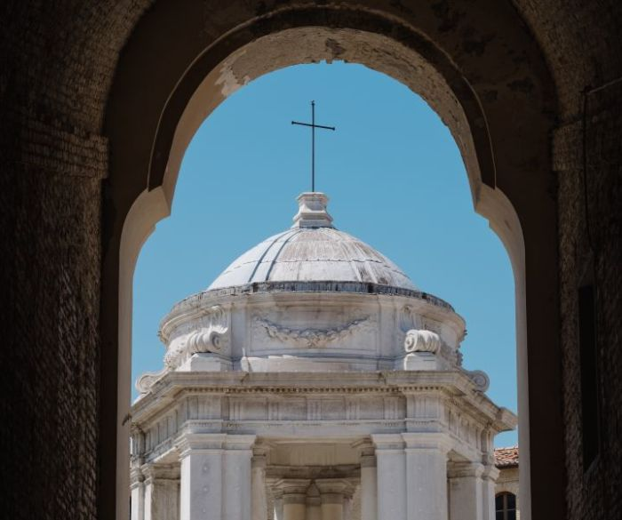 Ancona, Italy. The Basilica where Virgin Mary received annunciation is considered a highly spiritual place