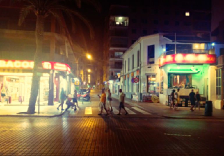 El Arenal am Abend