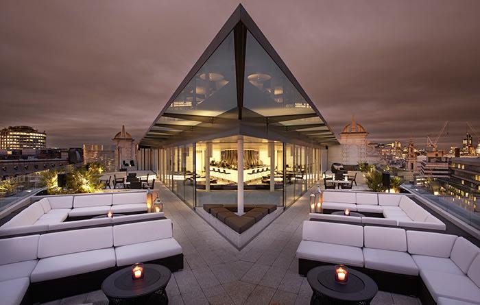 Radio rooftop bar at ME London