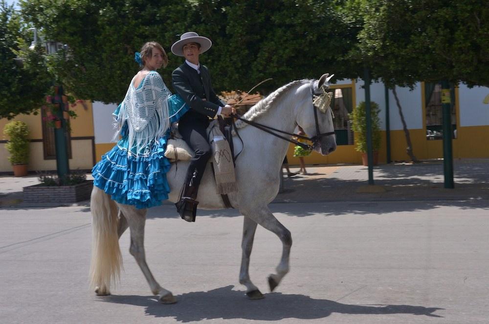 A caballo en la feria de Málaga