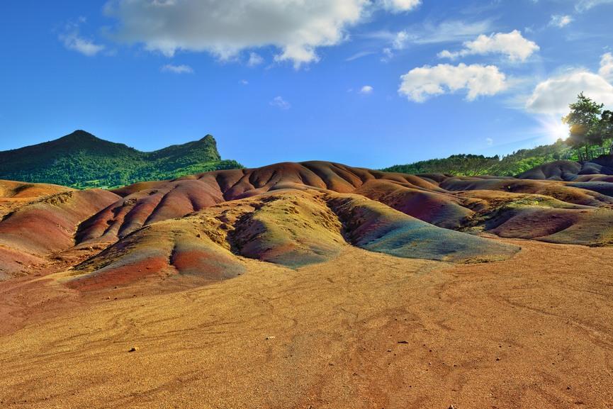 Seven colored land. Mauritius