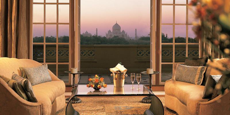 Hoteles con vistas: Oberoi Amarvilas Agra.