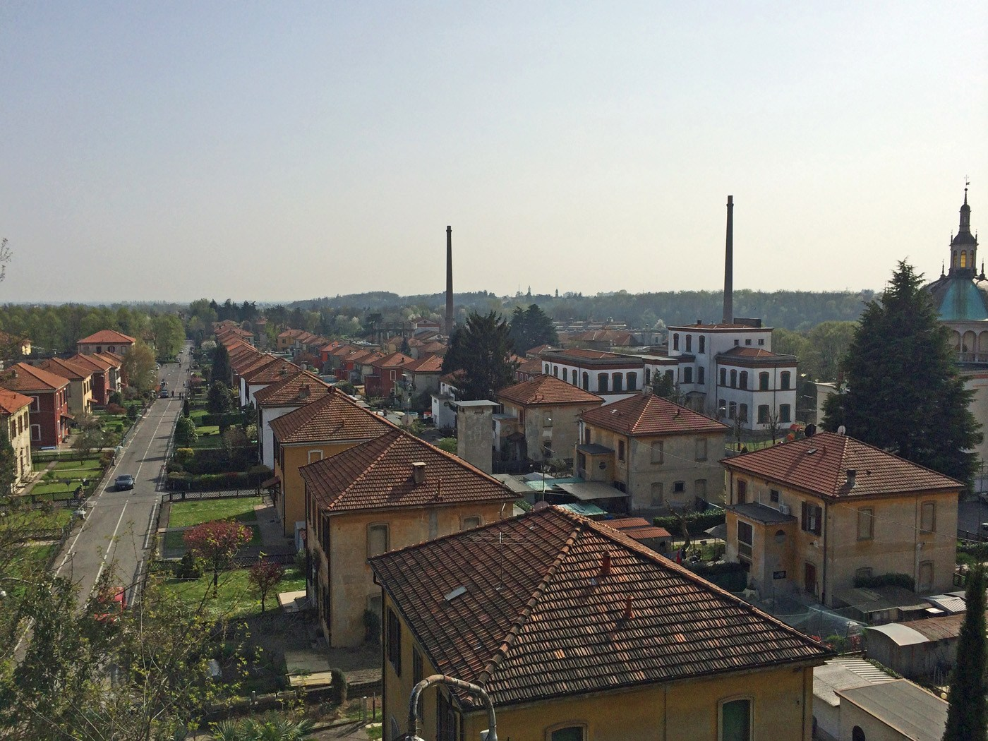 Vista di Crespi d'Adda, Lombardia