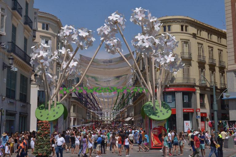 Calle Larios decorada