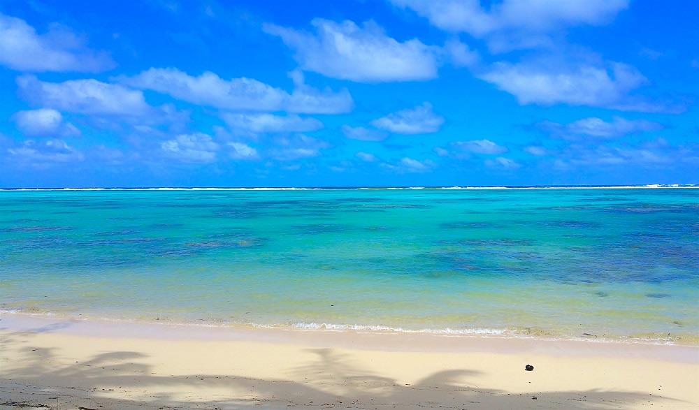 I colori della laguna a Rarotonga