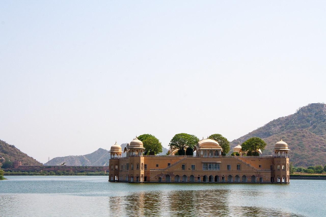 Palacio de agua, la India