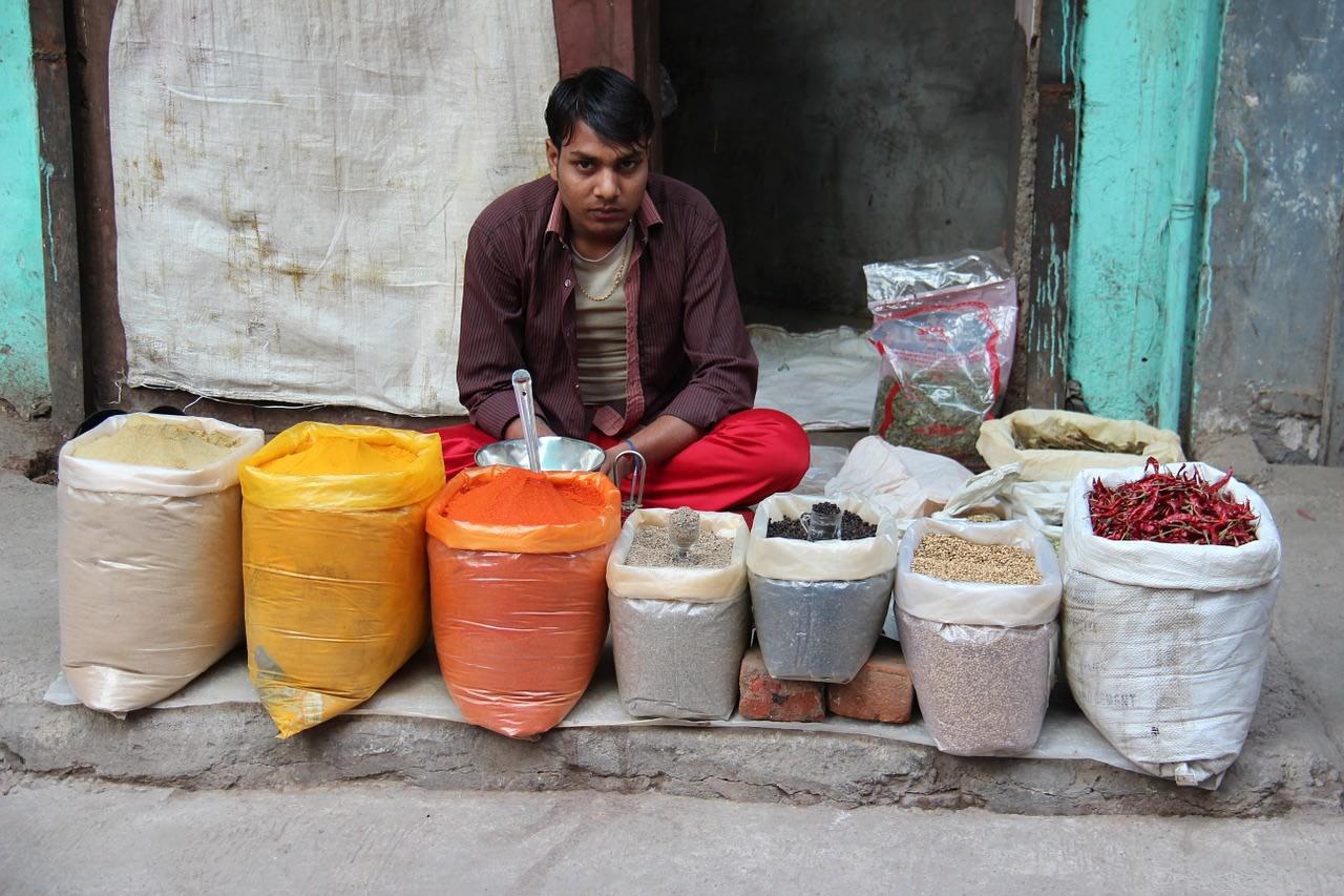 vendedor de especias la india
