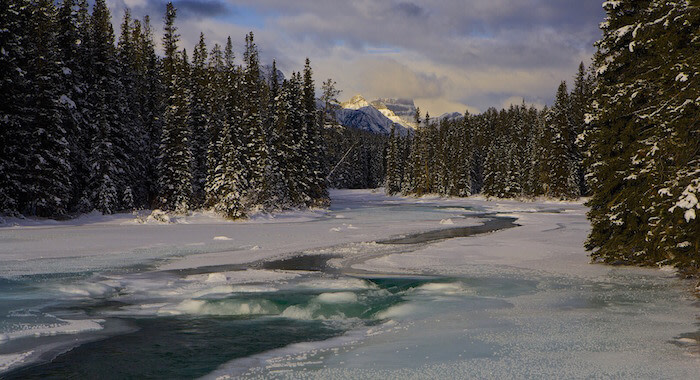 el renacido se rodó en rio bow canada