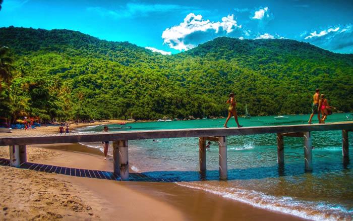 playas de brasil en ilha grande