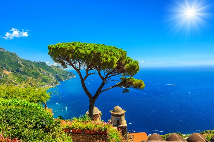 vistas desde Villa Rufolo ravello costa amalfitana italia