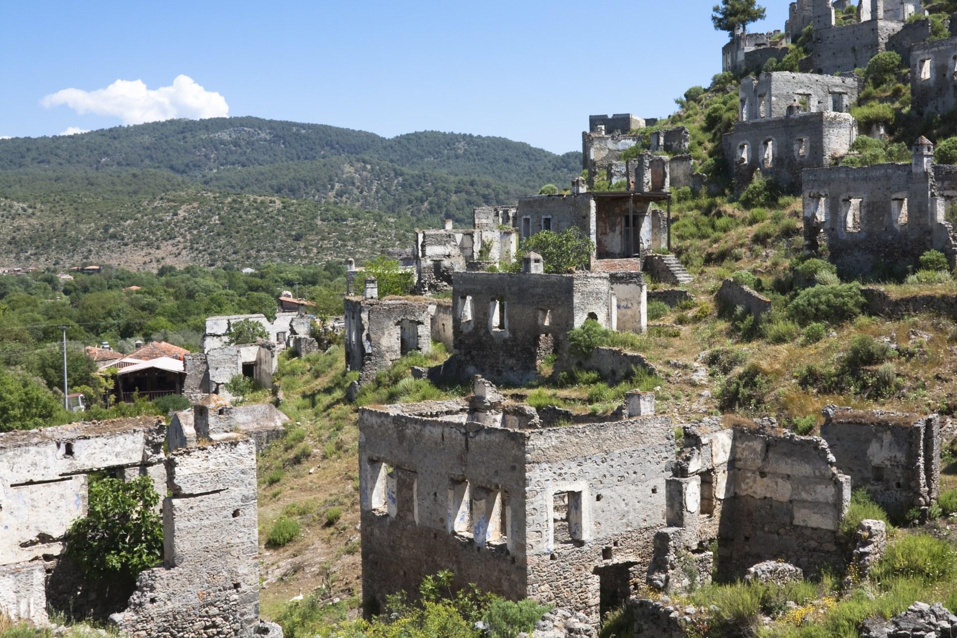 Ruiny w Kayakoy, Turcja