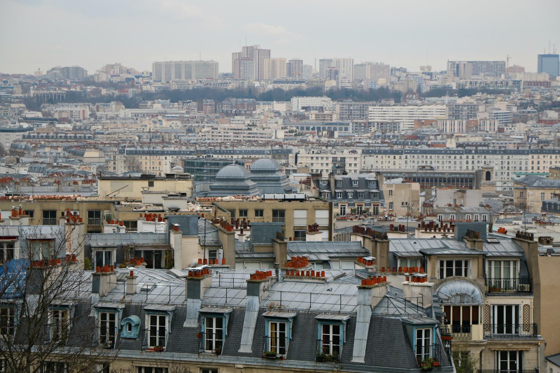 Parigi, panorama dall'alto di Montmartre