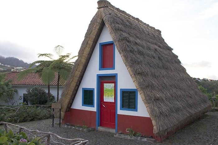 Casas tipicas en Santana madeira