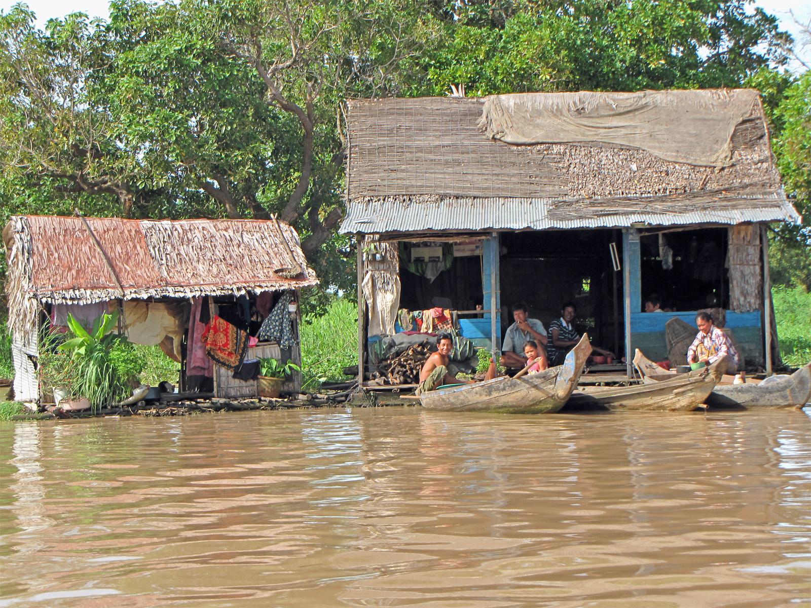 Cambogia, i villaggi galleggianti
