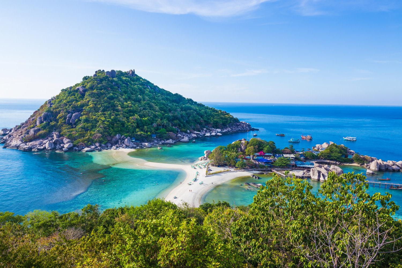 Activités - Vue sur aérienne sur la plage de l'île de Tao